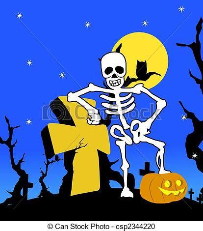 imagenes halloween esqueletos ilustraci 243 n de archivo de halloween esqueleto cruz