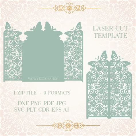 laser printable christmas cards laser cut envelope template for wedding invitation or