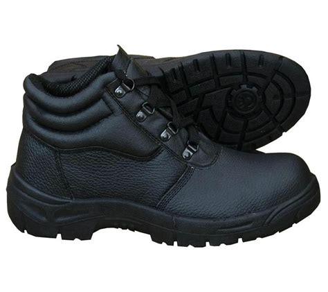 legend s chukka work boots black leather steel toe cap