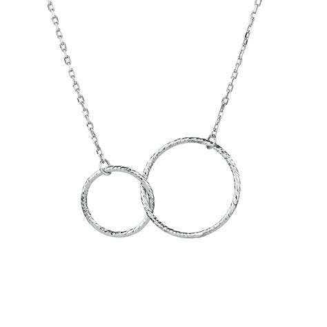 Necklace In Sterling Silver by Circle Link Necklace In Sterling Silver