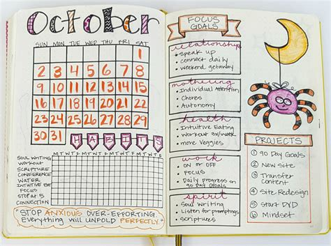 bullet journal setup plan with me my october bullet journal setup sublime