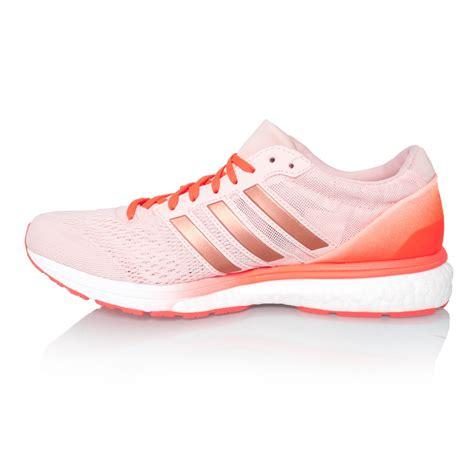 adidas adizero boston 6 boost womens running shoes vapour pink solar sportitude