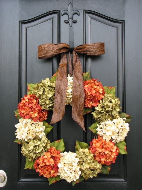 door wreath fall hydrangea wreaths front door wreaths wreaths for front
