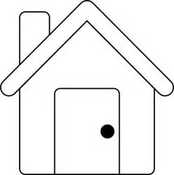 House Outline Template by House Outline Clip At Clker Vector Clip