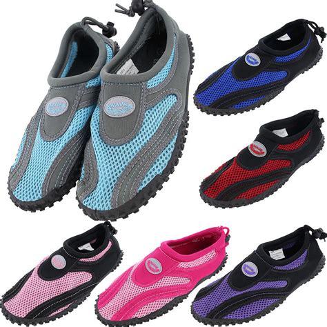 Aqua Shoes womens water shoes aqua socks exercise pool swim slip on surf ebay