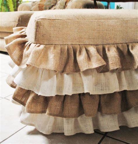 burlap ottoman slipcover best 25 burlap bedding ideas on pinterest burlap