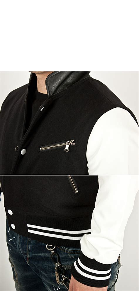 Comfy Baseball Jacket Black L outerwear sold out striking leather contrast accent