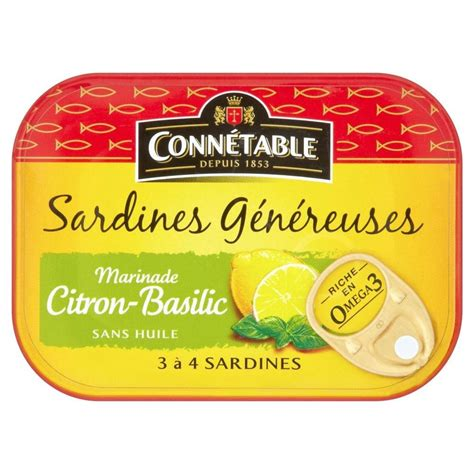 Basilic Baby Food Cooking Tools T1310 3 connetable sardines 192 citron et basilic 140g ebay