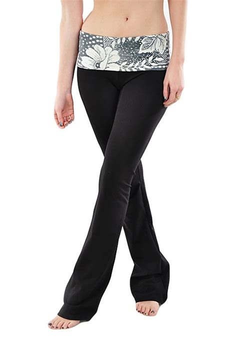 heritage pattern yoga pants t party faux lace band yoga pants 48 at www