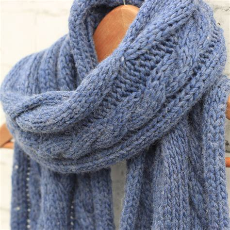 pearl knit big knit winter scarf by molly pearl