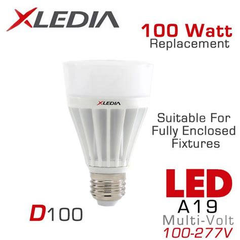 Lu Sorot Led 100 Watt xledia d100n 100 watt equal a19 led for fully enclosed