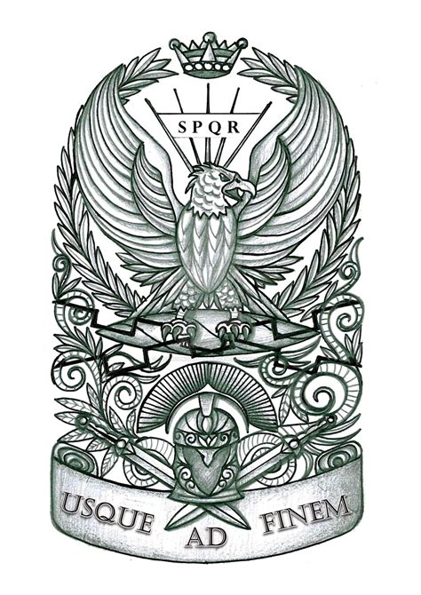 ancient roman tattoos eagle by thehoundofulster on deviantart