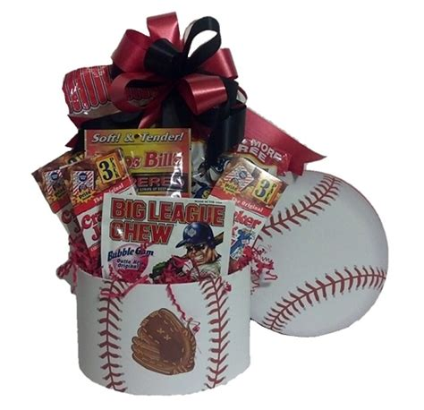 gifts for sports fans baseball fan sports gift basket m r designs giftsm r