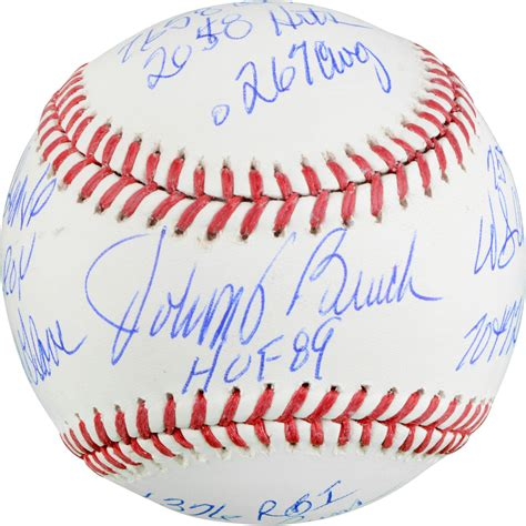 johnny bench autograph johnny bench signed baseball autographed mlb baseballs