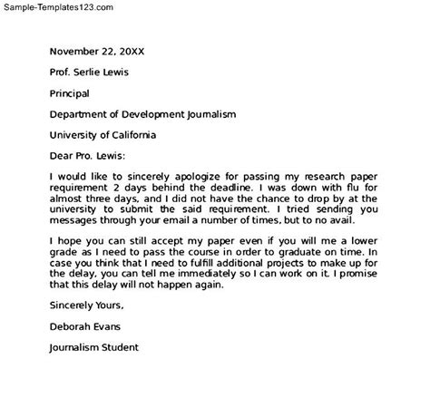 Apology Letter From To Principal Apology Letter To Principal For Breaking School Sle Templates