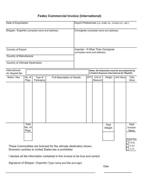 international commercial invoice template invoice exle