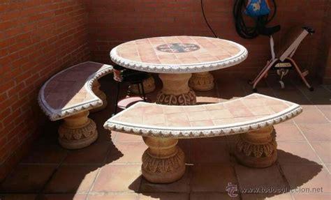 mesa piedra jardin mesa con 3 bancos piedra para jardin preciosa comprar