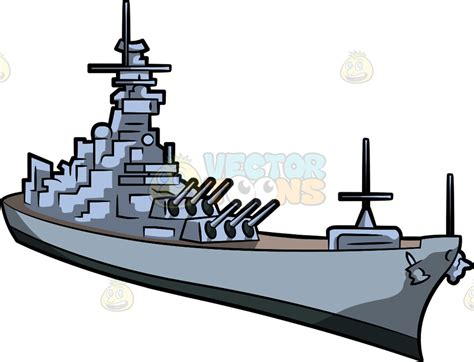 cartoon boat game battleship clipart military ship pencil and in color