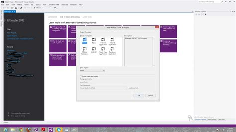 create mvc4 project in visual studio 2013