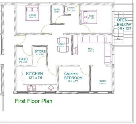 30x40 Vastu House Plans House Floor Plans Vastu Plans For House