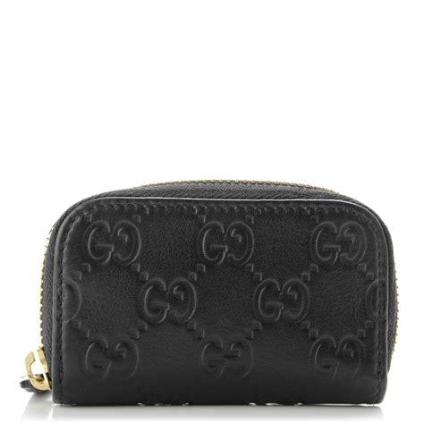 Gucci Coin Purse by Gucci Guccissima Zip Around Coin Purse Wallet Black 175833
