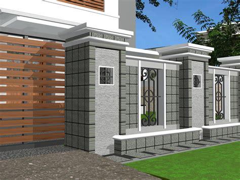 desain warna gapura 40 model pagar tembok minimalis desainrumahnya com
