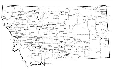 montana cities map ranch recreational prudential montana real estate