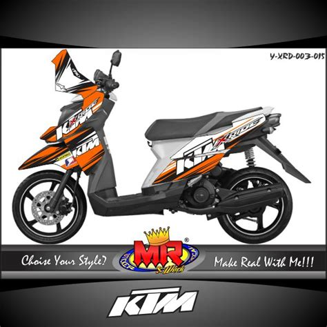 Stiker Striping Motor Yamaha X Ride 2015 Orange x ride ktm racing stiker motor striping motor suka