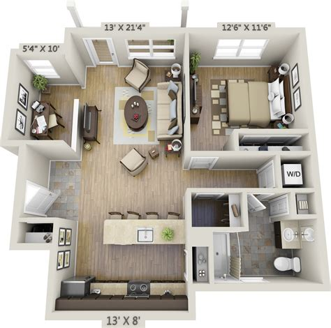 One Bedroom Apartment by One Bedroom Apartments Net Zero