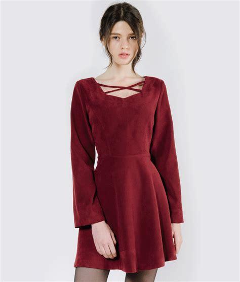 Mini Dress Salur Mini Dress Korea Cross Dress Korea Shoulder dresses official website