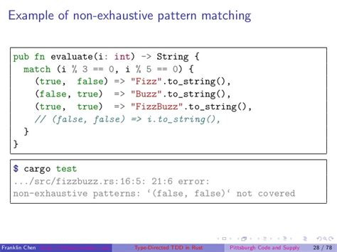 pattern matching rust type directed tdd in rust a case study using fizzbuzz