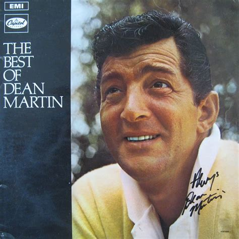 the best of dean martin dean martin quot the best of dean martin quot lp autographs