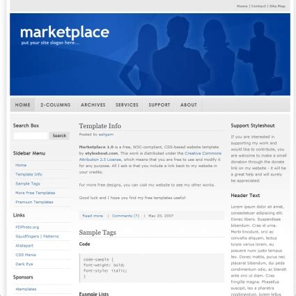 Marketplace 1 0 Template Free Website Templates In Css Html Js Format For Free Download 29 35kb Marketplace Website Template