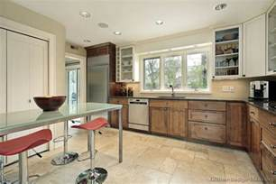 Brown And White Kitchen Cabinets Pictures Of Kitchens Traditional Medium Wood Cabinets Brown Page 3