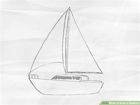 how to draw a 3d boat how to draw a sailboat 7 steps with pictures wikihow