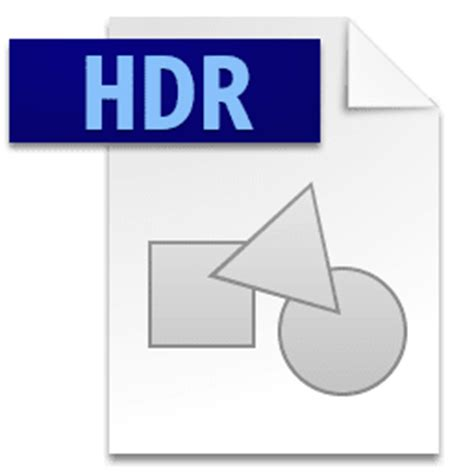 format file hdr hdr file what it is how to open one