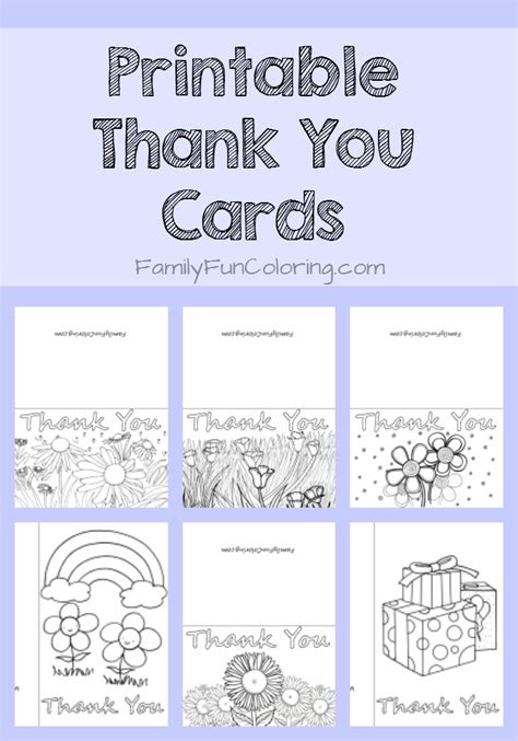 printable color in thank you cards printable thank you cards to color familyfuncoloring