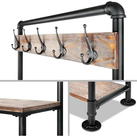 hallway bench with hooks pipe shoe rack coat hanger hallway entry bench buy