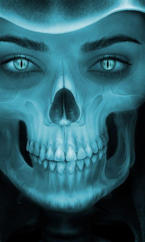 female grim reaper face hd wallpaper