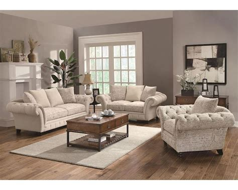 Coaster Traditional Style Sofa Set Willow Co 503761set
