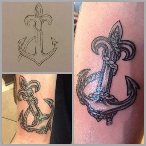 couple anchor tattoos 105 best couples tattoos w my boo
