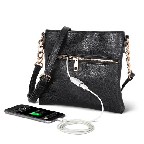 purse phone charger the phone charging purse hammacher schlemmer