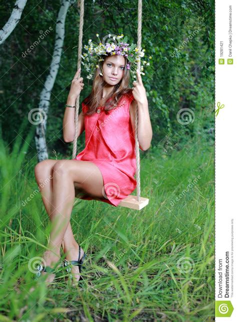 swing girls download girl on swing stock image image 19281421