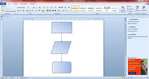 how to create a flowchart in word 2010 how to create flowcharts with microsoft word 2010 and 2013