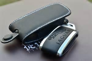 Jaguar Key Fob Bk White Genuine Leather Key Fob Jaguar Xj Xj8 Xjr Xjs Xk