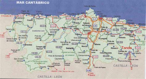 asturias mapa de carreteras mapa de asturias