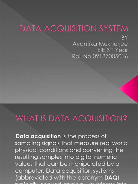 data acquisition and process using personal computers books data acquisition system ppt sling signal processing