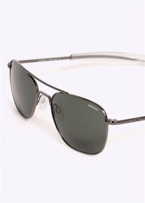 randolph engineering aviator sunglasses gun metal