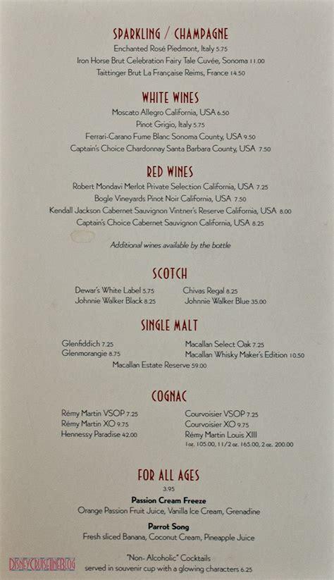 cocktail drinks menu drink menus the disney cruise line blog