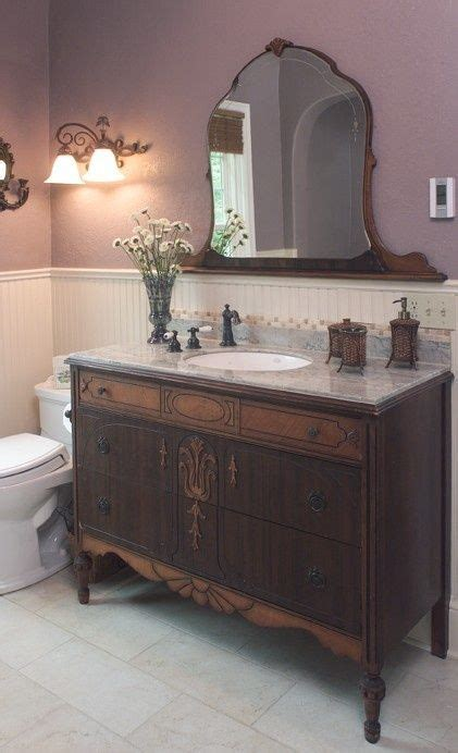 how to make a bathroom vanity from an dresser